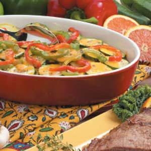 Summer Squash Pepper Gratin Recipe