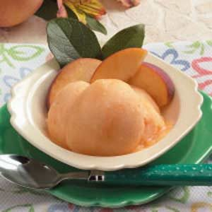 Peach Sorbet Recipe photo by Taste of Home