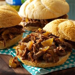 Shredded Steak Sandwiches