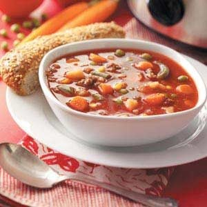 Slow-Cooked Beef Vegetable Soup Recipe