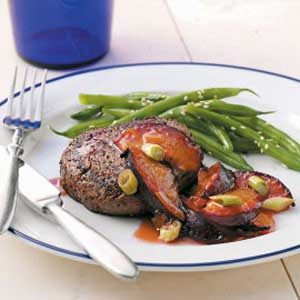 Filets with Plum Sauce