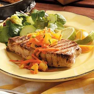 Tuna Steaks with Salsa Recipe