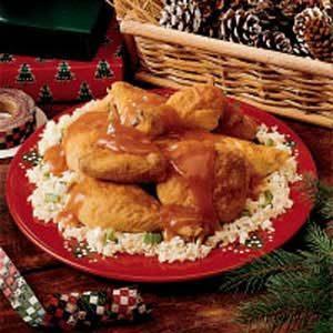 Orange-Glazed Chicken with Rice Recipe
