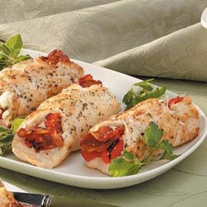 Bacon-Feta Chicken Rolls Recipe