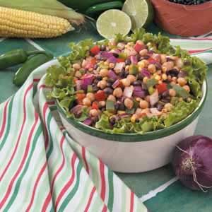 Quick Colorful Bean Salad Recipe