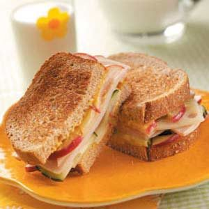 Apple-Swiss Turkey Sandwiches Recipe