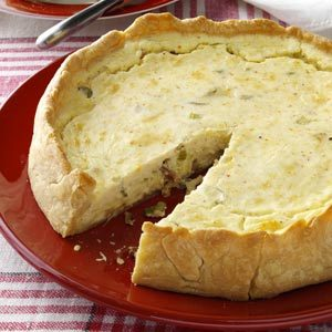 Bacon-Cheese Appetizer Pie Recipe