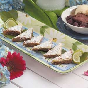 Lime Coconut Triangles Recipe