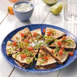 Barbecued Beef Quesadillas Recipe