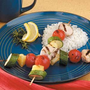 Honey Rosemary  Chicken Kabobs Recipe
