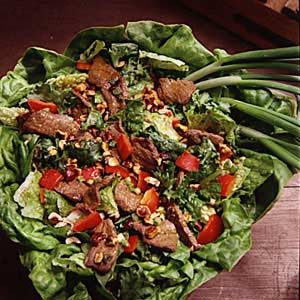 Hot Beef and Hazelnut Salad Recipe