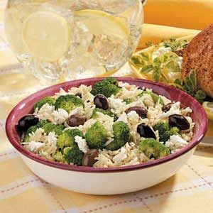 Greek Orzo and Broccoli