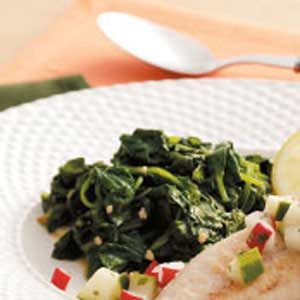 Wilted Garlic Spinach Recipe