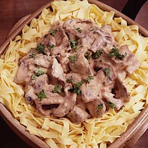Round Steak Stroganoff Recipe