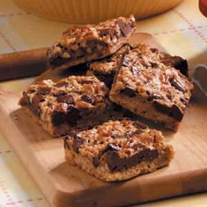 Chunky Pecan Bars Recipe