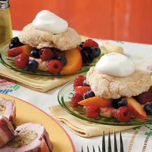 Mixed Fruit Shortcakes Recipe