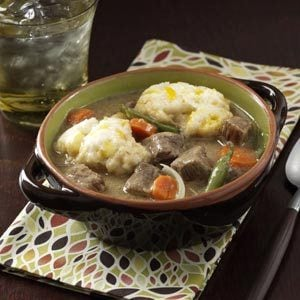 Beef Stew with Cheddar Dumplings Recipe