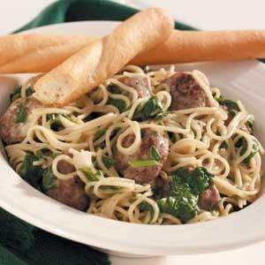 Sausage-Spinach Pasta Supper Recipe