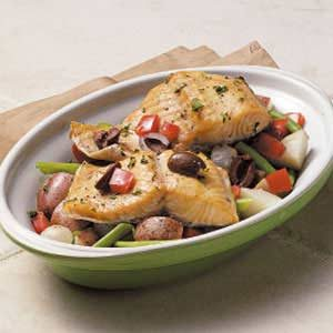 Vegetable Trout Bake Recipe