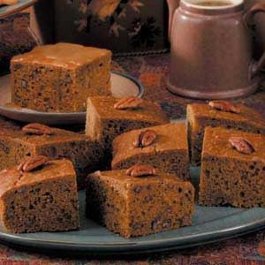 Pumpkin Gingerbread with Caramel Sauce Recipe