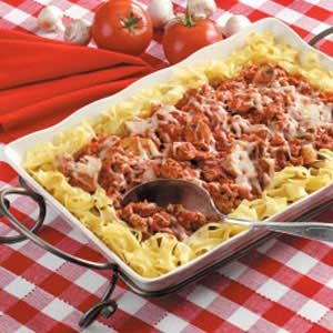 Italian Turkey and Noodles Recipe