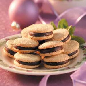 Mint Sandwich Sugar Cookies Recipe
