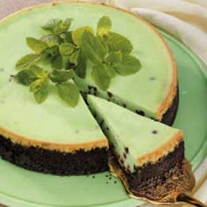 Peppermint Chip Cheesecake