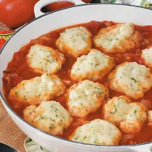 Parsley Dumplings with Tomatoes Recipe