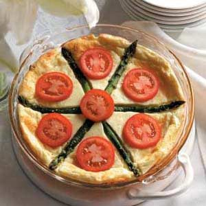 Asparagus Cheese Quiche Recipe