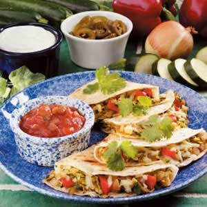 Spicy Zucchini Quesadillas Recipe