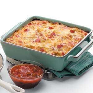 Overnight Ham and Egg Casserole Recipe