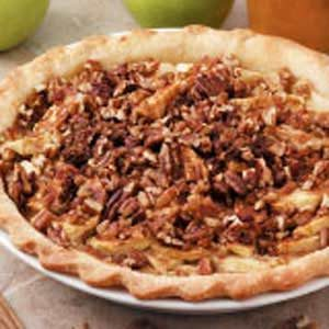 Nutty Sour Cream Apple Pie Recipe