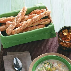Easy Sesame Breadsticks Recipe