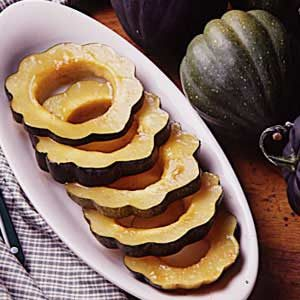 Candied Acorn Squash Rings