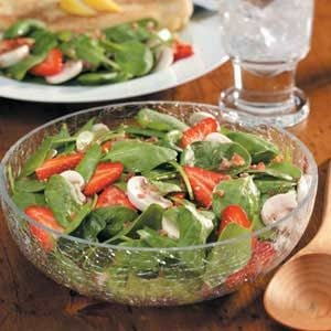Strawberry Mushroom Spinach Salad Recipe