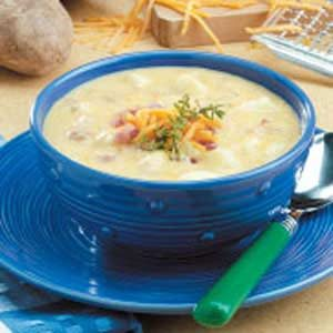Cheddar Cheese Potato Soup Recipe