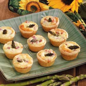 Asparagus Ham Tartlets Recipe