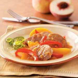 Peachy Ginger Pork Recipe