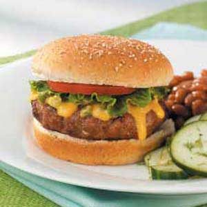 Turkey Burgers with Jalapeno Cheese Sauce