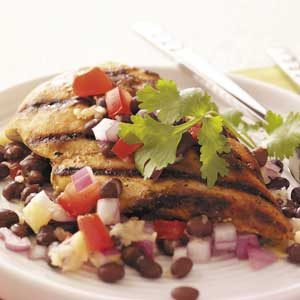 Chicken with Black Bean Salsa Recipe