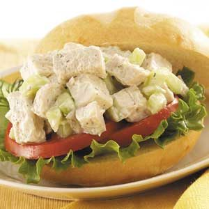 Cucumber Chicken Salad Sandwiches Recipe