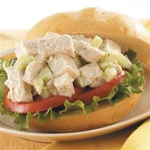 Cucumber Chicken Salad Sandwiches Recipe