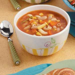 Macaroni Vegetable Soup Recipe