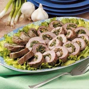 Tenderloin Spinach Spirals Recipe