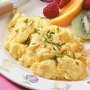 Quick Fluffy Scrambled Eggs
