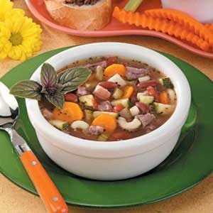 Beef and Pasta Vegetable Soup Recipe