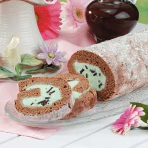 Mint-Chip Ice Cream Roll Recipe