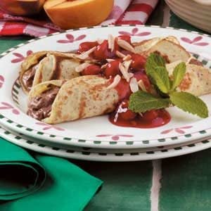 Chocolate Cherry Crepes Recipe