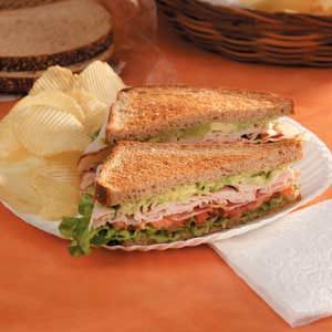 Guacamole Turkey BLT's Recipe