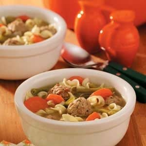 Turkey Meatballs Soup Recipe